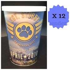 New 12ct Sgt. Stubby An American Hero Movie Reusable Birthday Party Cups & Lids