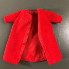 Vintage Barbie Clone Clothes Outfit - Red Winter Evening Coat