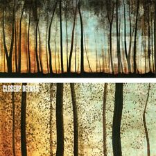 """48W""""x24H"""" GOLDEN FOREST by CAROLYN REYNOLDS - TREE TRUNKS SUNSET SUNRISE CANVAS"""