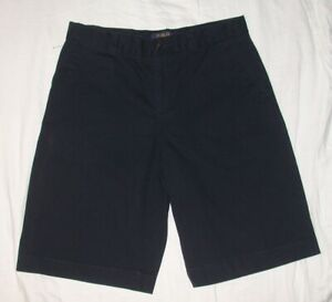 New RALPH LAUREN Classic POLO Chino Shorts Navy Blue Boys 20 NWOT Uniform Dress