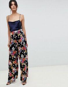 Bec & Bridge Womens Cha Cha Pants High Waisted Wide Leg Floral Palazzo Size AU 6