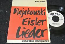 ERNST BUSCH Majakowski Eisler Lieder / DDR SP 1963 AURORA 580004
