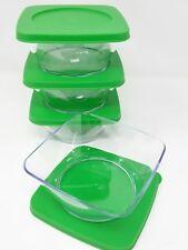 Tupperware  Clearly Elegant Crystalline Acrylic Century Clear Bowl Set 4 New