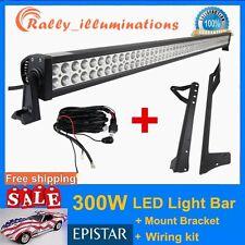 "07-Now Jeep Wrangler JK+ 52"" 300W LED Light Bar + 1PC Wiring Kit DRIVING SUV ATV"