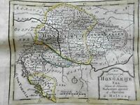 Kingdom of Hungary Transylvania Croatia Dalmatia 1780 Holtrop miniature map