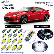 8 Bulbs LED Interior Light Kit Xenon Cool White For 2012-2019 Toyota 86 GT86 BRZ