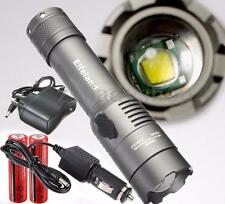 40000LM T6 LED Rechargeable Flashlight Torch 18650 Battery AC&Car Charger HK