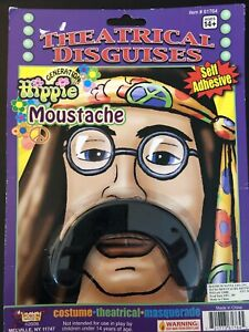 Theatrical Disguises Moustache - Hippie - Self Adhesive - Costume