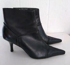 Joan & David Circa Donahue Black Pointed Toe Heel Ankle Boots Booties Sz 9.5 M