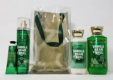 BATH N BODY WORKS VANILLA BEAN NOEL GIFT SET - MIST LOTION GEL HAND CREAM BAG