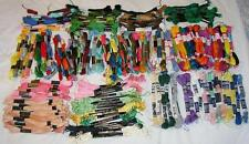 LOT 175 SKEINS EMBROIDERY,NEEDLEPOINT,CRAFT FLOSS,DMC,J&P COATS,STAR,MORE
