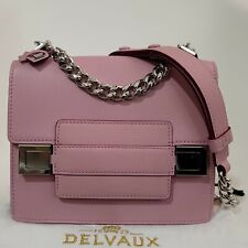 NEW Delvaux Two Tone Madame Leather Shoulder bag Pink Burgundy Made in France