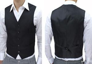 Gilet Homme Slim Fit Noir sans Manches Casual Élégant Neuf DE S A 4XL