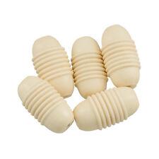 Crema a Coste Ovale/BARILE resina acrilica Spacer Beads 27x15mm Confezione da 5 (H50/1)