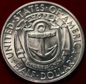 Uncirculated 1936-D Denver Mint Rhode Island Comm Half Dollar