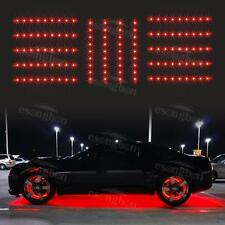 "14pc Red Car Truck Underglow Under Body Neon Accent Glow LED Lights 12""Strip"