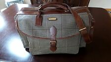 $655 Polo Ralph Lauren Houndstooth PVC & Leather Duffle Messenger Travel Bag