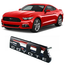 5.0 COYOTE Front Grille Badge Fender Rear Emblem for Ford Mustang BOSS 302 Black