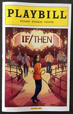 Idina Menzel Signed IF/THEN Playbill April 2014