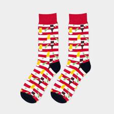 'Men Colored Striped Cotton Socks Art Jacquard Hit Color Long Dot Happy Socks'