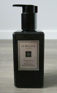 JO MALONE LONDON VELVET ROSE & OUD CLEANSING SHOWER OIL PUMP BLACK BOTTLE 250ML