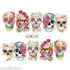 Halloween Sexy Skull Nail Art Water Decals Transfer Stickers Decoration Tattoo