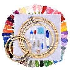 Handcraft Cross Stitch Kit Embroidery Starter Sew Needle Round Hoop Frame NEW