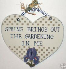 Rustic~Spring Brings Out the Gardening in Me~Heart Country Home Decor