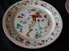 Katherine Babonovsky White Christmas dinner plate (6 available)