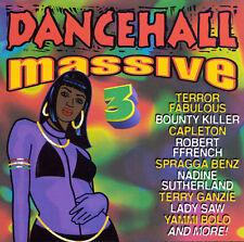 Dancehall Massive 3 - 12 TRACK MUSIC CD - NEW SEALED - G720