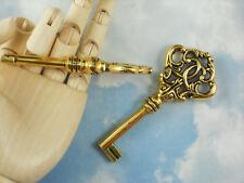 "1 Ornate Fancy Key Pendants 3"" Gold Tone Wedding Decor Key to Success #P1122"