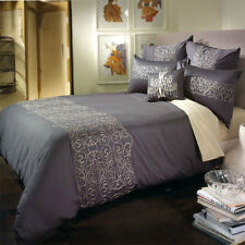 BIANCA MADDOX Charcoal | Gold QUEEN Size Bed Doona | Duvet | Quilt Cover Set
