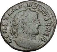 Constantius I Constantine the Great Father  Roman Coin Genius Cult Wealth i41206
