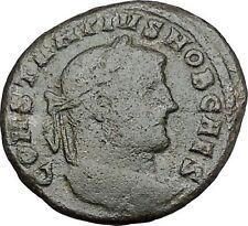 Constantius I Constantine the Great Father  Roman Coin Genius Cult Wealth i41206