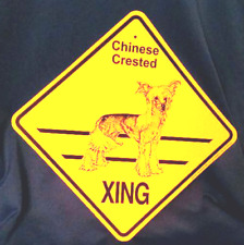 Chinese Crested Xing Dog Sign