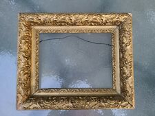 "DEEP Antique Victorian Picture Frame~Wooden Gold Gilt Gesso~Opening 9"" X 11.5"""