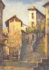 B53949 Vicolo Morcote Pittore dardo Gattelli Painting