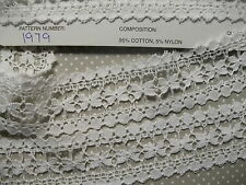 Exclusive English Nottingham Cotton Cluny Lace Entredeux - Vintage Pattern 1979