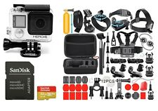 New GoPro Hero 4 Silver Edition Camera Camcorder 40+ Accessories!