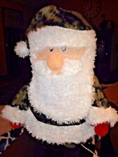 "24"" LIGHT UP Camouflage Santa Christmas Decoration NEW IN BOX"