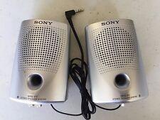 SONY SRS-P7 Two Stereo Speakers Mini Input Plug