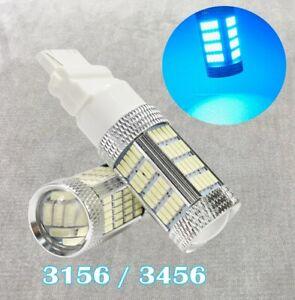 Rear Trun Signal Light T25 3156 3456 92 LED Ice Blue Bulb Lamp W1 GM JA