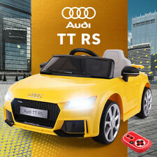 12V Kids Ride On Audi TT RS Licensed Toys Racing Car 2 Motor Remote Control