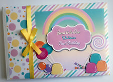 CANDYLAND / SWEETS / SWEET ONE 1ST BIRTHDAY GUEST BOOK - ANY DESIGN