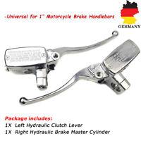 Universal 1'' 25mm Motorrad Bremshebel Bremszylinder Hydraulische Kupplungshebel