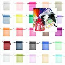20pcs Organza Gift Bags Pouches Jewellery Candy Packing Wedding Favor UKBB4-BB9