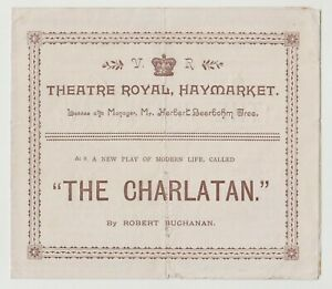 "ANTIQUE VICTORIAN ERA PROGRAMME ""The Charlatan"" Theatre Royal Haymarket"