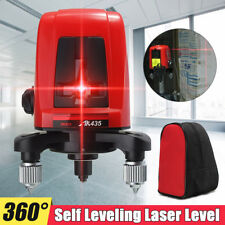 AK435 360 Degree Self-leveling Cross Red Laser Level Meter 2 Line 1 Point W/ Bag
