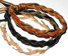 Lot de 3 Bracelets Brésiliens Cuir Macramé Amitié Bracelet noir marron