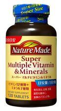 Otsuka Nature Made supplement Super Multi Vitamin & Mineral 120 tablets Japan